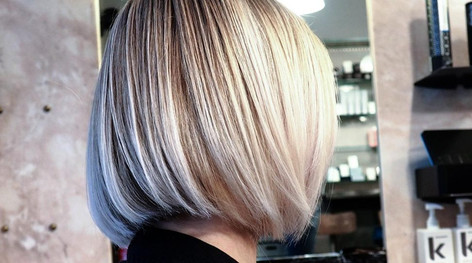 Blond diving square hairstyle by Cizors