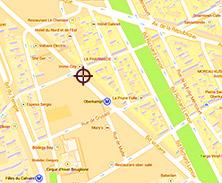 Plan acces nouveau salon Cizors Voltaire